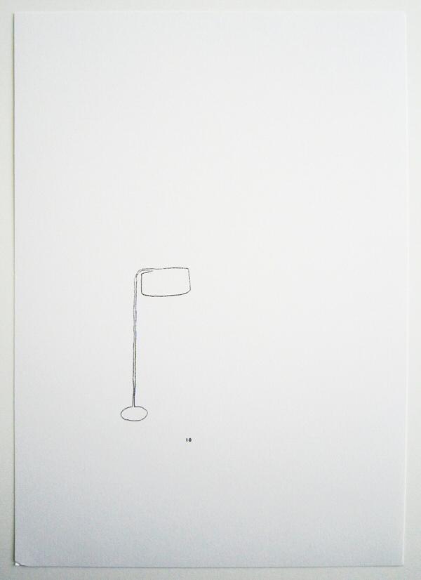 draw_Floor lamp with silk shade